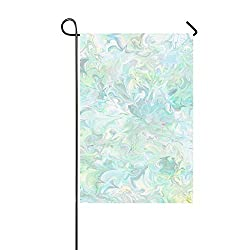 JOCHUAN Dekorative Outdoor Double Sided Digital Scrapbook Papier Garten Flagge, Haus Yard Flagge, Garten Yard Dekorationen, saisonale Willkommen Outdoor Flagge 12 X 18 Zoll Frühling Sommer Geschenk