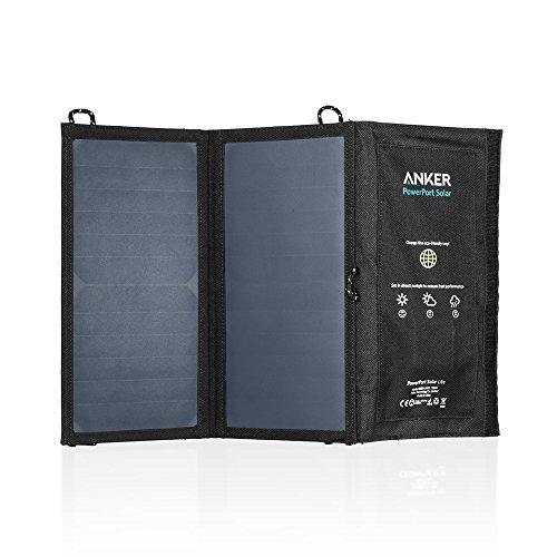 Anker PowerPort 15W 2-Port USB Solarladegerät für iPhone 6s 6 / 6s Plus / 6 Plus, iPad Air 2 / mini 3, Galaxy S6 / S6 Edge S5 / Nexus und weitere