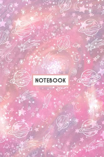 Notebook: Pink Galaxy Constellations Planets Sky Notebook (Composition Book, Journal, Diary) (6.14