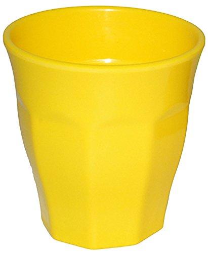 """Trinkbecher / Becher - """" Waffeloptik - NEON GELB """" - 250 ml - aus Melamin - Tasse - auch als Zahnputzbecher / Malbecher - Kunststoff Plastik - Kindertasse / Kinderbecher - Partybecher - Trinklerntasse / Trinkglas - Kleinkinder - Kindergeschirr - Jungen & Mädchen - Kinder & Erwachsene - Campinggeschirr - Kindergeschirr / Retro Design Vintage - Campingbecher / Plastikgeschirr mehrweg Camping Set / Plastikbecher - Kunststoffbecher bunt - Melaminbecher - Geschirr"""