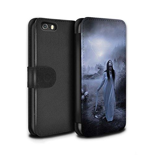 Officiel Elena Dudina Coque/Etui/Housse Cuir PU Case/Cover pour Apple iPhone 5/5S / Sorcière Chaudron Design / Magie Noire Collection Autel/Rituel/Décès