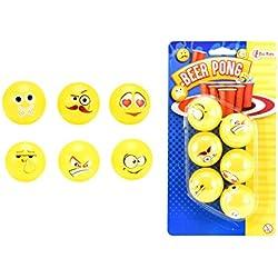 Toi toys–cerveza de pelota de Ping Pong Emoji Design Figura, 51017a, multicolor