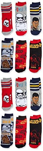FM London Boy's Official Licensed Star Wars Socks, pack of 12