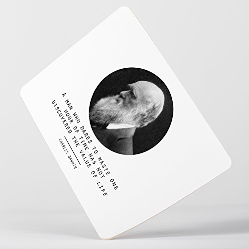 Value of Life Charles Darwin Quote Origin of Species Evolution Atheist Mousepad