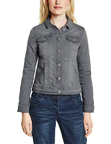 Cecil Damen 210971 Lejla Jeansjacke, Graphite Light Grey, M