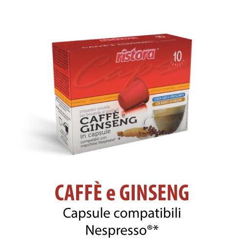 60 cialde capsule ginseng ristora compatibili macchine nespresso (6 x 10pz)