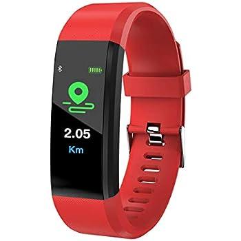Montre Connectée, LIGE Moniteur de fréquence Cardiaque écran Couleur Bracelet Intelligent Bluetooth Pédomètre Compteur de