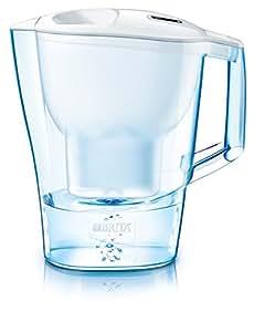 Brita Aluna Frosted - Caraffa filtrante, Capacità di 3.5 litri, Colore Bianco