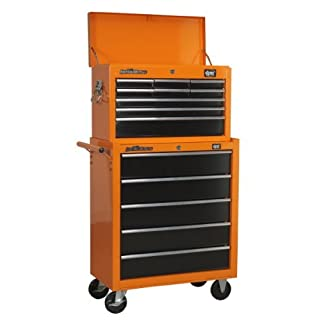 DJM 9 Drawer Top Chest Top Box and 5 Drawer Roller Cab Cabinet Tool Box by DJM Direct