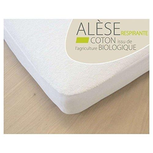Kadolis Alèse Bébé Coton Bio, 60x120 cm, Blanc