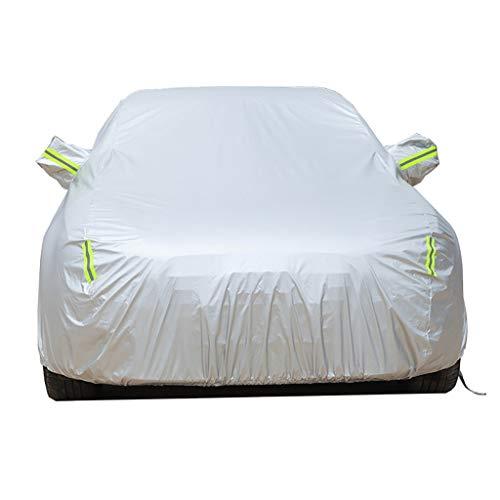 GAOWEIFENG Kompatibel Mit Der Peugeot 107-Autoabdeckung, Vier Jahreszeiten, Universell, Wasserdicht, Kratzfest, Langlebige Autoabdeckung, Atmungsaktiv, Mit Baumwolle Gefüttert, Strapazierfähig wetterf