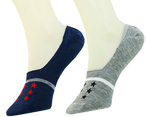 Neska Moda Premium Unisex Bamboo Grey,Blue 2 Pair Loafer Socks  available at amazon for Rs.219
