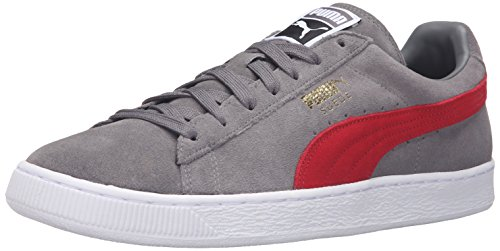 Puma Suede Classic+Water Wildleder Turnschuhe Steel Gray/Barbados Cherry