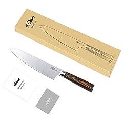 Idea Regalo - Coltello da cuoco, 20cm coltelli da cucina Kealive professionali in acciaio al carbonio di alta qualità e con impugnatura ergonomica