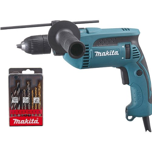 Makita HP1641K1X Kit Taladro Percut. 13Mm 680W, 680 W, Multicolor