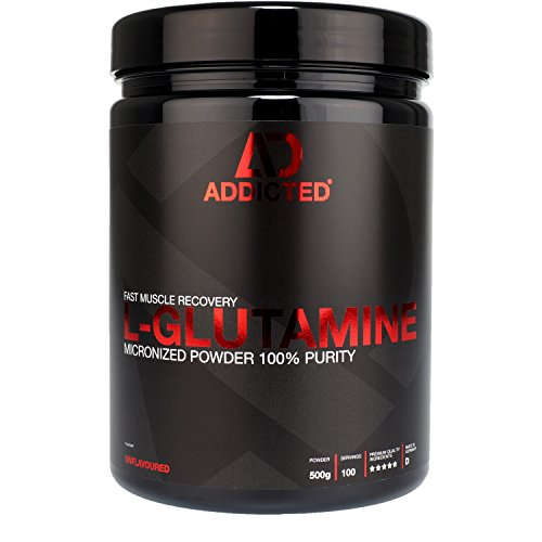 L-GLUTAMINE von ADDICTED® • 100% L-Glutamin Pulver hochdosiert   Geschmacksneutral   Unflavoured • Aminosäure für Muskelerhalt und schnellere Regeneration • Für Kraftsport und Bodybuilding
