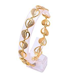 a89530ca097 Joyalukkas Impress Collection 22k Yellow Gold Charm Bracelet for Women:  Amazon.in: Jewellery