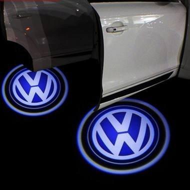 LIGHTUPRO 2 pcs LED proyector láser para Volkswagen Logo paso puerta cortesía bienvenida luz fantasma sombra VW