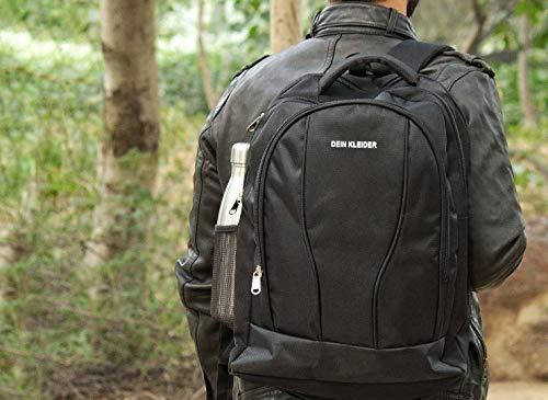 DEIN KLEIDER Unisex 40 L Large Capacity Casual/School/Laptop Backpack (Black) Image 2