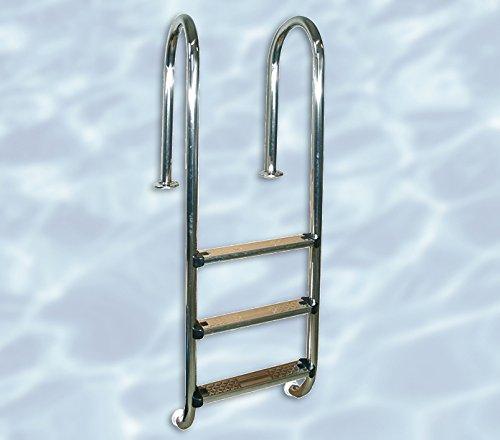 Weka Pool Einhängeleiter, silber, 175 x 55 x 6 cm, 590.0106.20.00