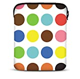 MySleeveDesign 9,7-10,5 Zoll Tablet Hülle Sleeve Kompatibel Mit Samsung Galaxy Tab 4 3 S Apple iPad Pro & Air Lenovo A10 Acer Aspire Note 3 Asus Sony uvm. - Colored Points [10]