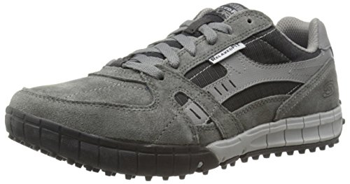 Skechers Floater Zapatillas de piel para hombre, Gris (CCBK), 41