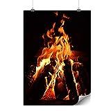 Wellcoda Kamin Feuer Natur Plakat Gemütlich A0 (119cm x 84cm) Glänzend schweres Papier, Ideal für die Gestaltung, Einfach zu hängen Kunst