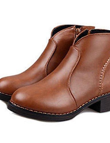 ShangYi Mode damenschuhe stiefel die Herbst/Winter Mode Schuhe PU and Low Heel andere Schwarz / Braun Schwarz
