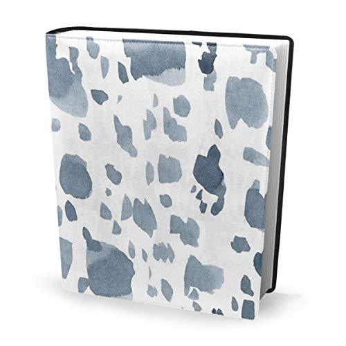 Dress rei Book Cover Blue Spotted Ink Waterproof PU Leather School Book Protector Washable Reusable Jacket 9x11 in - Red Dress Ink