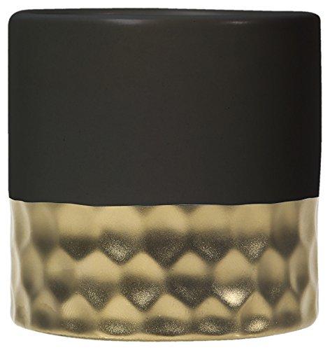 LE CHAT Il Gatto 122792401227924Candela nel Suo contenente rempli Nera e profumata Matura Snella, paraffina, Oro, 6,8x 6,8x 7cm