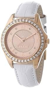 Esprit - A.ES106482004 - Montre Femme - Quartz Analogique - Bracelet Cuir Blanc