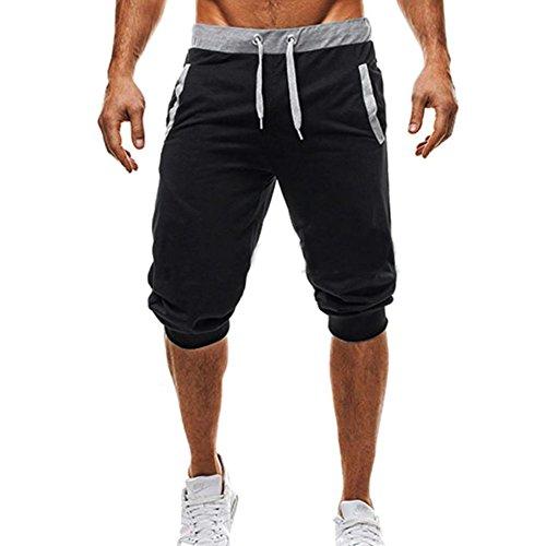 Pantalones Cortos Deportivos para Hombre - Fitness Jogging Running Pantalón con Bolsillos Moda Cómodo Cintura Elástica Casual Gym Pantalones