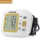 Oberarm Blutdruckmessgerät mit Manschettengröße für Normale und Breite Arme von BROADCARE, 2x 99 Speicherplätze, Eingebauter Wieder Aufladbarer Akku
