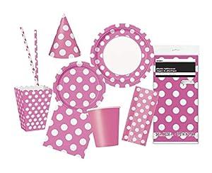 Unique Party Party Kit Color rosa 63814