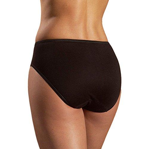 HERMKO 65031 Damen athletic Slip atmungsaktiv schnelltrocknend Funktionsunterwäsche, Farbe:schwarz, Größe:44/46 (L) - 2