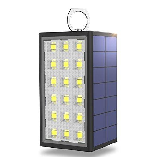 BigBlue 3 in 1 Auto Warnleuchte Multifunktionswarnlicht 10600mAh Solar Ladegerät Powerbank Wasserdichte Outdoor 18 LED Leuchte, grüne umweltfreundliche SOS Funktion LED Lampe für Notfall Outdoor-grüne Led Leuchtet