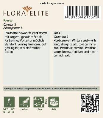 Lauchsamen – Porree Carentan 3 von Flora Elite