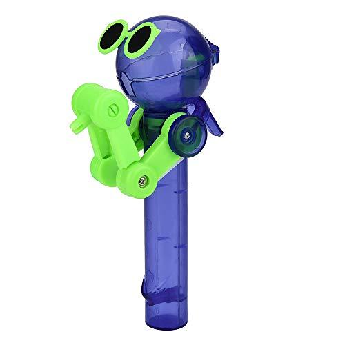 Allegorly Kreatives Spielzeug für Kinder Baby Junge Mädchen Pädagogisches Spielzeug Lutscher-Artefakt Lustiger Essenlutscher-Roboter-Halter Stand Geschenke Spielzeug (Grün B) (Lutscher Grünen Die Und Roten)