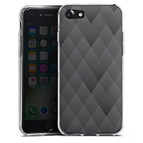Apple iPhone X Silikon Hülle Case Schutzhülle Anthrazit Modern Muster Silikon Case transparent