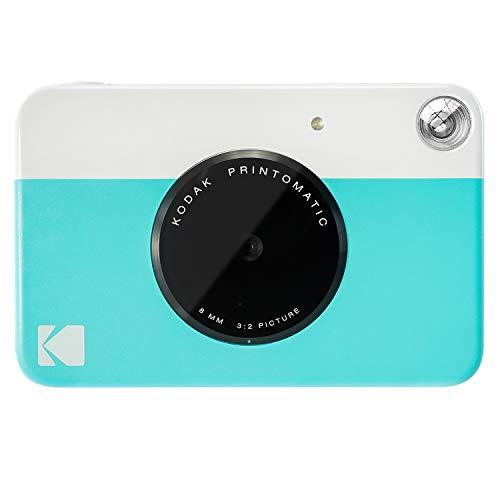 Kodak Printomatic - Cámara de impresión instantánea, imprime en Papel Zink 5 x 7.6 cm con respaldo adhesivo, azul