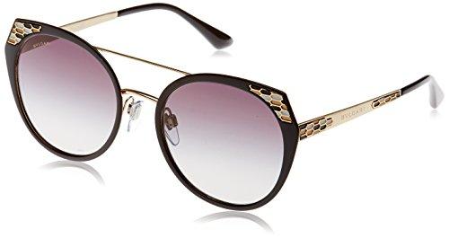 Bvlgari 6095, occhiali da sole unisex adulto, multicolore (black demi matte/pale gold), 53
