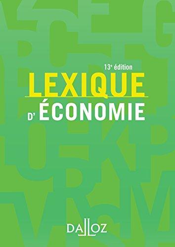 Lexique d'conomie - 13e d.