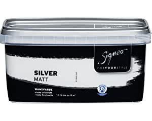 Signeo bunte wandfarbe silver hellgrau matt elegant - Jette joop wandfarbe ...