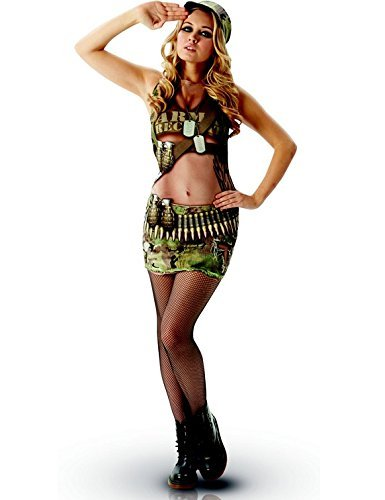 Unisex Echt Appeal Armee Annie Hirsch Hen Night Saucy Fun Sexy, Erwachsenen-Kostüm - Medium ()