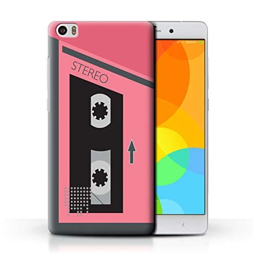Stuff4 - Carcasa para teléfono móvil, diseño de Casete Retro Rosa/Gris Xiaomi Mi Note Pro