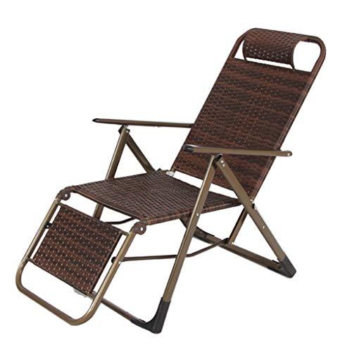 Paresseux Dossier en bambou inclinable Chaises de plage Balcon Chaise de loisirs en plein air Siesta Home Cool Jardin