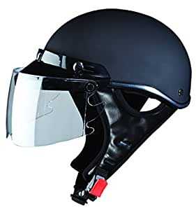 Studds Troy Sporting SUS_TSH_MBLKL Half Helmet (Matt Black, L)