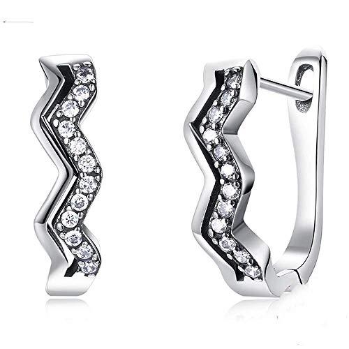 S-PJZ Sterling Silber Kristall Ohrringe Clip für Frauen Engagement Geschenk Schmuck Kleine Ohrring für Mädchen, Silber, a - Platin-geld-clip