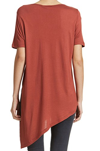 Tee Shirt Vero Moda Vmmilas Rose Poudre Femme Rouge