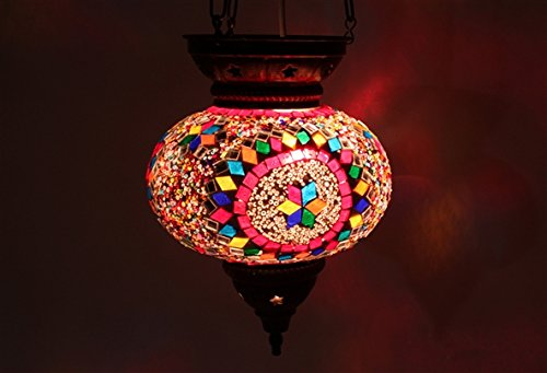 Mosaico lámpara de araña para cama individual